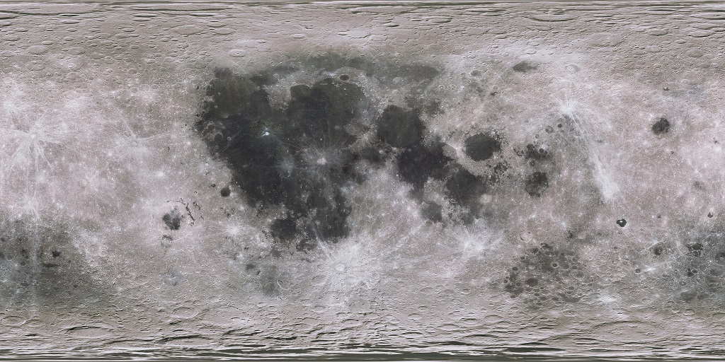 Scaled Moon Map
